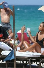 Karrueche Tran On the beach in Miami