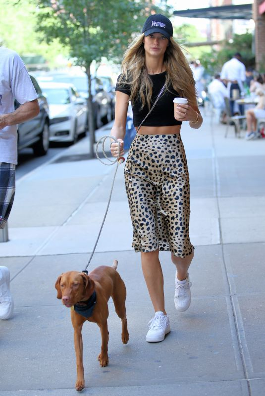 Kate Bock Out with her dog in NYC