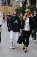 Kate Moss With her daughter Lila Grace Moss seen leaving Paris, France
