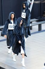 Kendall Jenner & Kaia Gerber At Rehearse ahead of the Alexander Wang fashion show at the Rockefeller Center in New York City