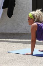 Kerry Katona Make gymnastics before tv show in Greece
