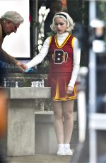 Kiernan Shipka On the set of Chilling Adventures of Sabrina in Vancouver