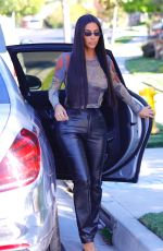 Kim Kardashian Visiting a friend at their Beverly Hills
