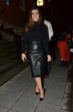 Kym Marsh Leaving San Lorenzo Restaurant in Warrington