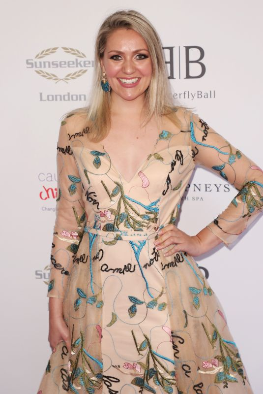 Larissa Eddie Arrives for the Caudwell Children Butterfly Ball charity event at the Grosvenor House, Park Lane, London
