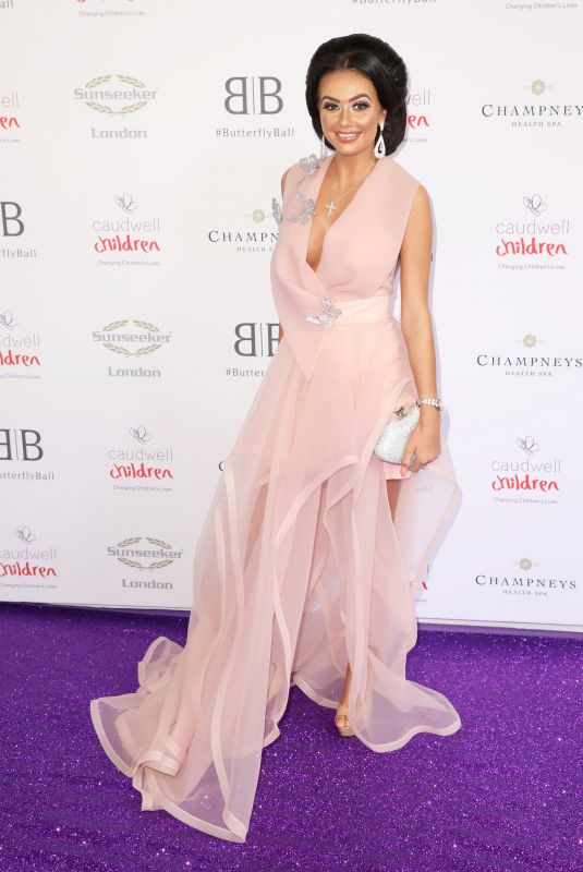 Leah Fletcher Attending the Butterfly Ball 2019 at Grosvenor House in London
