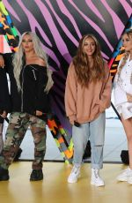 Leigh-Anne Pinnock, Perrie Edwards, Jesy Nelson and Jade Thirlwall from Little Mix seen at Global Radio Studios
