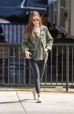 Lily Collins At Lunch at Hugo
