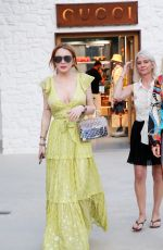 Lindsay Lohan and Hofit Golan Arrive at the official opening of the Philipp Plein store in Mykonos