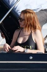 Lindsay Lohan In the beautiful island of Mykonos for her summer vacation""