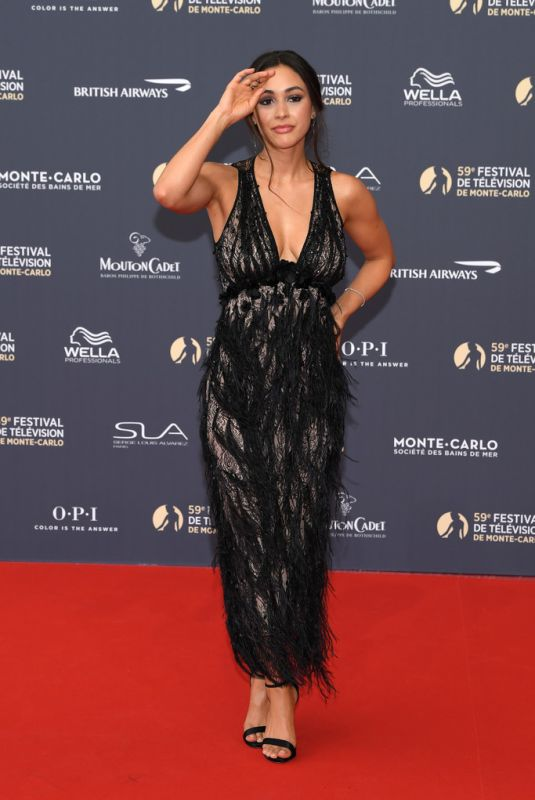 Lindsey Morgan At opening ceremony of the 59th Monte Carlo TV Festival