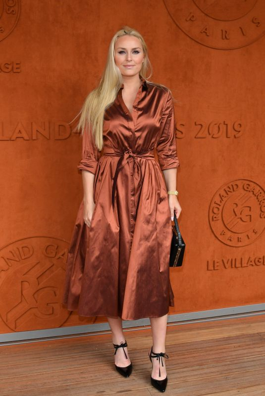 Lindsey Vonn Attends the 2019 French Open at Roland Garros in Paris France