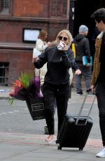 Lucy Fallon Leaves her hotel after mad night at the British Soap Awards in Manchester