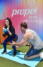 Lucy Hale Trains for the Propel Co Labs Fitness Festival in West Hollywood