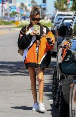 Madison Beer Shows some tummy and legs leaving Alfred Coffee in West Hollywood