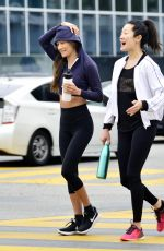 Maggie Q Leaves a gym with a gal pal in West Hollywood