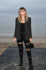 Miley Cyrus At Saint Laurent Mens S/S 20 Show photocall in Malibu