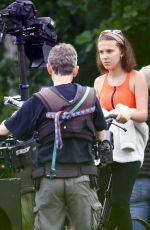 Millie Bobby Brown On set of her new film