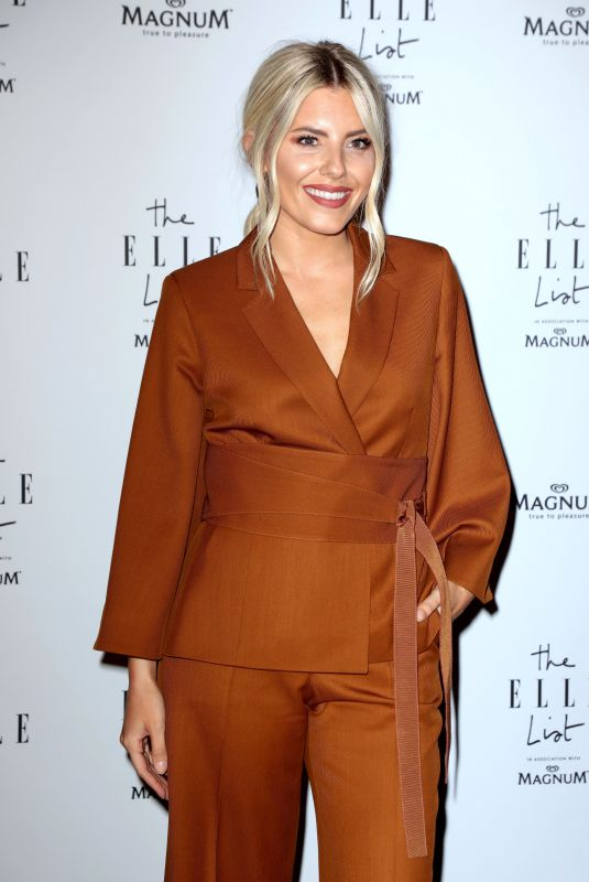 Mollie King At The ELLE List in Association with MAGNUM Ice Cream in London