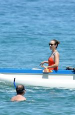 Olivia Wilde Played on the beach on her vacation in Maui