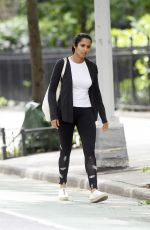 Padma Lakshmi Leaving the Gym and heading to the Subway station in New York City