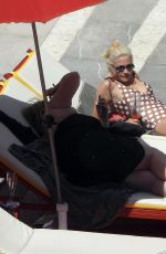 Pixie Lott By the pool in Ibiza