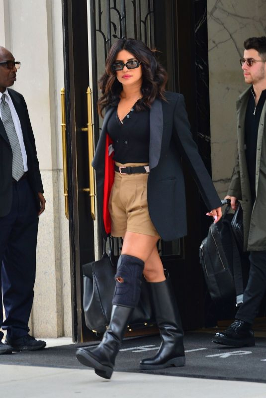 Priyanka Chopra Heading out from her apartment in NYC