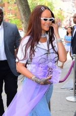 Rihanna Arrives to her goddaughter Majesty