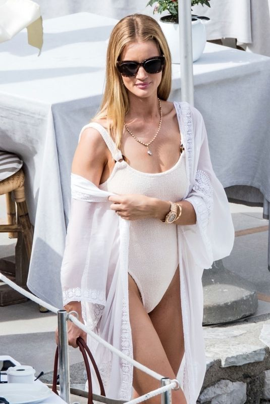 Rosie Huntington-Whiteley In a swimsuit on the Island of Capri