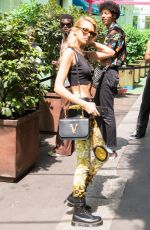 Stella Maxwell Arriving at the Versace Show in Milan