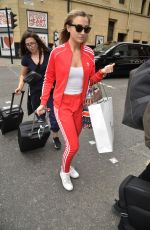 Tilly Keeper Arrives at her hotel ahead of soap awards in Manchester