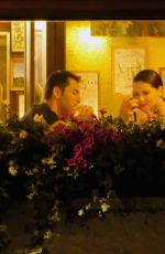 Adriana Lima Having dinner with Emir Uyar at the restaurant da Ivo in Venice, Italy