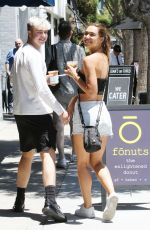 Alexis Ren With a friend getting a drink in Studio City