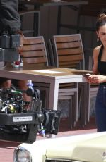 Alice Braga and Hemky Madera filiming Season 4 of Queen of The South in Miami Beach
