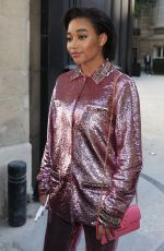 Amandla Stenberg Leaving the Maison Valentino Fall 2019 show in Paris