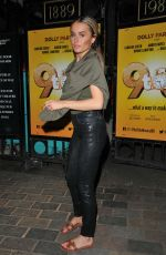 Amber Davies Leaving Savoy Theatre in London