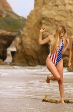 Ana Braga On the beach in Malibu