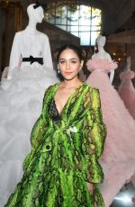 Araya Hargate Attends the Giambattista Valli Haute Couture Fall/Winter 2019 2020 show as part of Paris Fashion Week