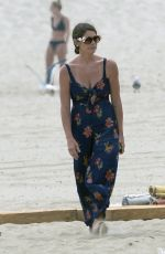 Ashley Greene At a beach party with friends in Los Angeles