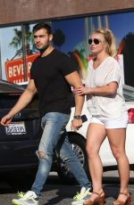 Britney Spears And her boyfriend Sam Asghari seem inseparable after enjoying dinner at Le Pain in Beverly Hills