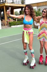 Brooke Burke Has A Roll In To Summer Roller Skating Party - Malibu