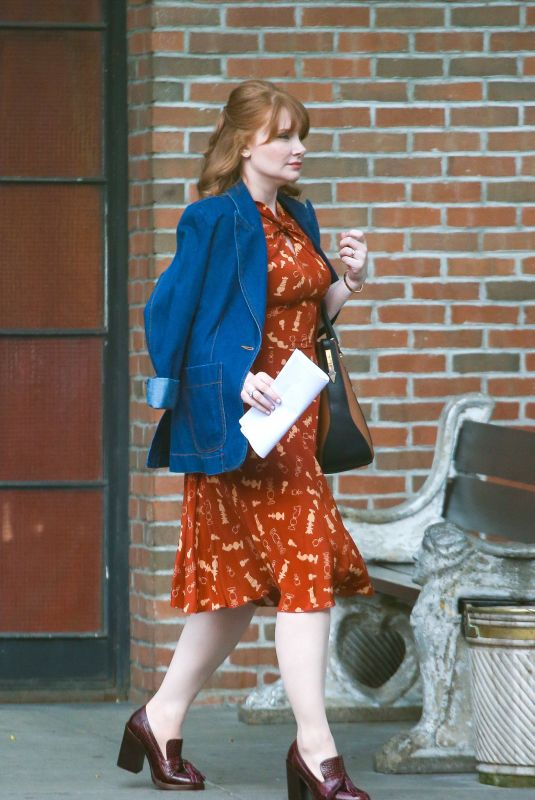 Bryce Dallas Howard Outside the Bowery Hotel in New York City