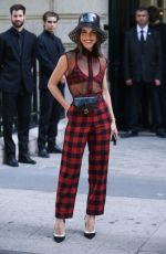 Camila Coelho Arrives at the Dior Haute Couture Fall/Winter 2019-2020 show