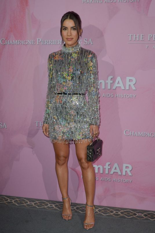 Camila Coelho Attending the amfAR Couture Cocktail and Dinner Party at Peninsula Hotel, Paris