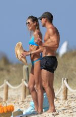 Carla Pereyra Enjoys a romantic paradise getaway in Formentera, Spain