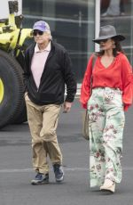 Catherine Zeta-Jones Seen catching a helicopter to Silverstone to watch the British Formula 1