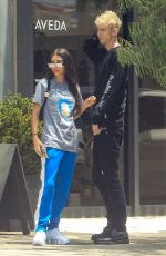 Chantel Jeffries Leaving from lunch together in Los Angeles