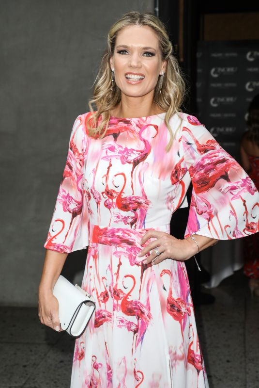 Charlotte Hawkins Attending the ITV Summer Party 2019 at Nobu Shoreditch in London