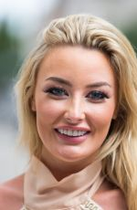 Chloe Crowhurst Departing the BBC following recording for the One Show, London
