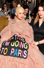 Christina Aguilera At Victor&Rolf Haute Couture Fall/Winter 2019 2020 show as part of Paris Fashion Week in Paris
